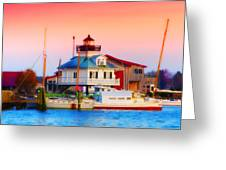 St. Michael's Lighthouse Greeting Card by Bill Cannon