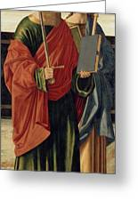 St. Paul And St. James The Elder Greeting Card by Cristoforo Caselli