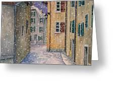 St Ursanne in Snow Greeting Card by Scott Nelson