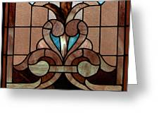 Stained Glass Lc 06 Greeting Card by Thomas Woolworth