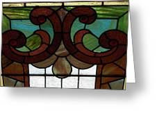 Stained Glass Lc 08 Greeting Card by Thomas Woolworth