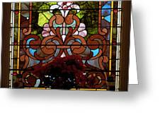 Stained Glass Lc 17 Greeting Card by Thomas Woolworth