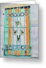 Stained Glass Window Greeting Card by Sandy McIntire