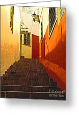 Stairway Guanajuato Greeting Card by Olden Mexico