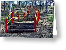 Stairway To Nowhere Greeting Card by Peter P G