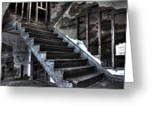 Stairway To Ruin Greeting Card by Andrew Pacheco
