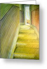 Stairwell In Malden Apartment 1978 Greeting Card by Nancy Griswold