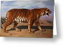 Stalking Tiger Greeting Card by Rosa Bonheur