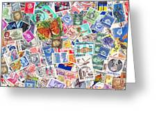 Stamp Collection . 2 To 1 Proportion Greeting Card by Wingsdomain Art and Photography