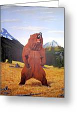 Standing Grizzly  Greeting Card by Mickael Bruce