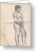 Standing Nude Greeting Card by Brian Francis Smith