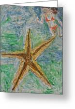 Star Greeting Card by Iris Gill