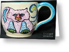 Star Kitty Mug Greeting Card by Joyce Jackson