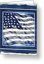 Star Spangled Banner Blue Greeting Card by Angelina Vick