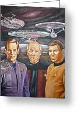 Star Trek Tribute Enterprise Captains Greeting Card by Bryan Bustard