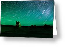 Starry Landscape Greeting Card by Marius Sipa
