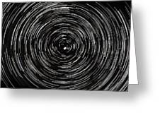 Startrails With Polaris At Center Greeting Card by Cristian Mihaila