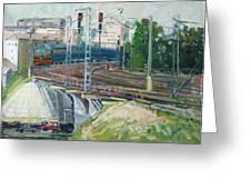 Station Near To Moscow Greeting Card by Juliya Zhukova