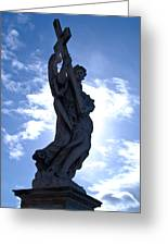 Statue In Rome Greeting Card by Andres Leon