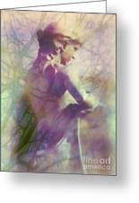 Statue In The Garden Greeting Card by Judi Bagwell