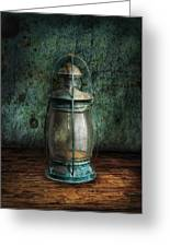 Steampunk - An Old Lantern Greeting Card by Mike Savad