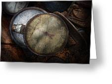 Steampunk - Gauge For Sale Greeting Card by Mike Savad