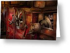 Steampunk - Gear - It Used To Work Greeting Card by Mike Savad