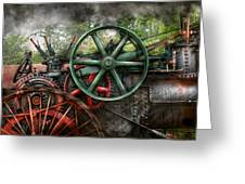Steampunk - Machine - Transportation Of The Future Greeting Card by Mike Savad