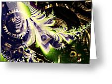 Steampunk Abstract Fractal . Square . S2 Greeting Card by Wingsdomain Art and Photography