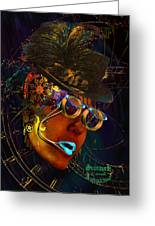 Steampunk Automachina Greeting Card by Tony Marquez