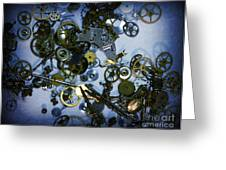 Steampunk Gears - Time Destroyed Greeting Card by Paul Ward