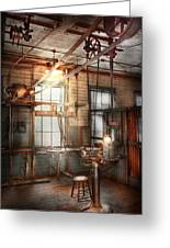 Steampunk - Machinist - The Grinding Station Greeting Card by Mike Savad