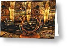 Steampunk Time Lab Greeting Card by Jutta Maria Pusl