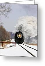 Steamtown Excursion Train Greeting Card by Michael P Gadomski and Photo Researchers