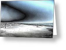 Steel Beach Greeting Card by Dana Patterson