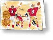 Steve Young - Hall Of Fame Greeting Card by George  Brooks