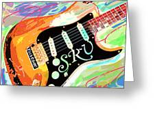 Stevie Ray Vaughan Stratocaster Greeting Card by David Lloyd Glover