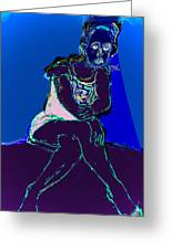 Still In The Blues Greeting Card by Noredin Morgan