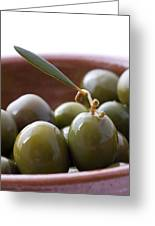 Still Life Of Spanish Campo Real Olives Greeting Card by Frank Tschakert