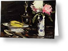 Still Life Greeting Card by Samuel John Peploe