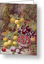 Still Life With Fruit Greeting Card by Oliver Clare