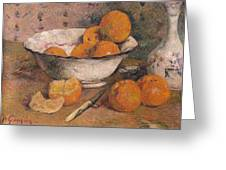 Still Life With Oranges Greeting Card by Paul Gauguin
