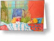 Still life with pears Greeting Card by Ben Leary