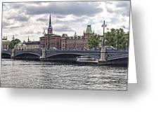 Stockholm Greeting Card by Mauro Celotti