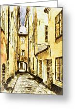 Stockholm Old City Greeting Card by Yury Malkov