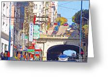 Stockton Street Tunnel In San Francisco . 7d7355 Greeting Card by Wingsdomain Art and Photography