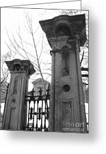 Stone Pillars Greeting Card by Reb Frost