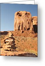 Stone Stack. Greeting Card by Jane Rix