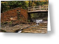 Stone Walls And Wooden Bridges Greeting Card by Joshua House