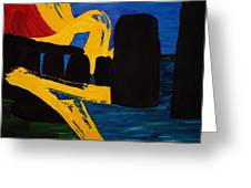 Stonehenge Abstract Evolution1 Greeting Card by Gregory Allen Page